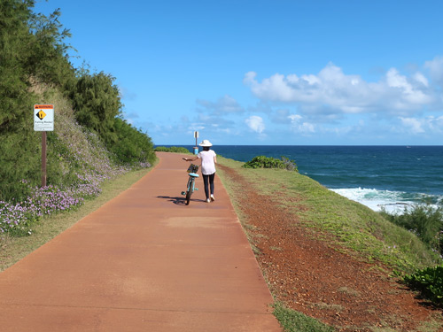 Kapaa Bike Path, Kaui Hawaii